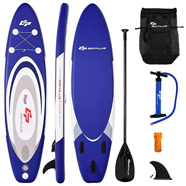 Goplus Inflatable Stand up Paddle Board Surfboard
