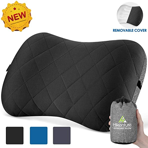 Hikenture Camping Pillow with Removable Cover - Ul