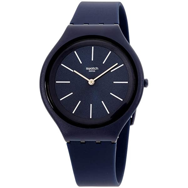 Swatch Men's Quartz Watch with Silicone Strap Blue