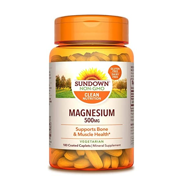 [미국] 1076105 Sundown Magnesium 500 mg (180 Coated