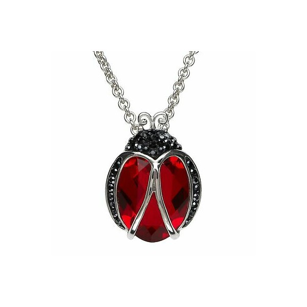 [미국] 1416012 Crystaluxe Ladybug Pendant with Cryst