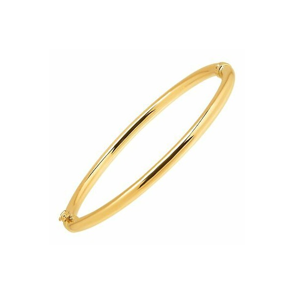 [미국] 1416009 Eternity Gold Polished Hinged Bangle