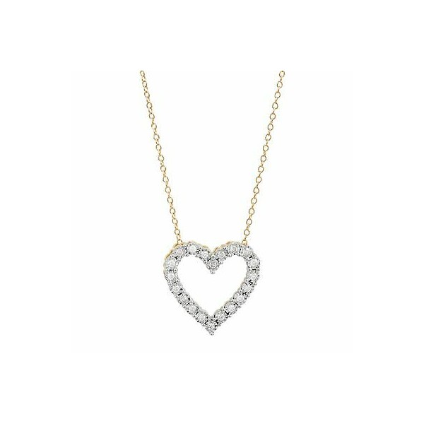[미국] 1416008 1/4 ct Diamond Heart Pendant Necklace